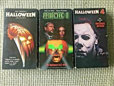 Lot (3) Halloween 1 2 4 VHS Movie Set Michael Myers Lenticular Vintage Horror