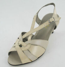 Leather Sandals Block Heels for Women