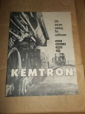 KEMTRON 5th MASTER CATALOG FOR CRAFTSMEN Trains HO OO TT HOn3 Railroad