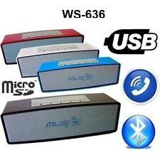 CASSA PORTATILE WS636 MICRO SD USB BLUETOOTH MP3 SMARTPHONE SPEAKER ALTOPARLANTE