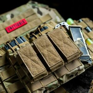 Tactical Triple Pistol Magazine Pouch 9mm Mag Glock Army Military Kit Protector