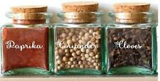 15 Spice jar labels decal stickers for £8. any colour. free delivery