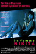LA FEMME NIKITA Movie POSTER 27x40 Anne Parillaud Jean-Hugues Anglade Tcheky