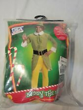 Elf Movie Buddy The Elf size O/S Adult Licensed Costume Outfit Rubie's