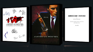 American Psycho Script/Screenplay With Movie Poster And Autographs Signed Print