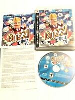 Buzz Quiz TV Game and Manual Only (Sony PlayStation 3, 2008) PS3 - NO BUZZERS