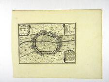 PLAN DOUAI NORD PAS DE CALAIS FRANKREICH KARTE KUPFERSTICH BEAULIEU 1665 #D857S