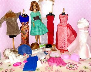 BIG Vintage Barbie Doll With Clothes & Accessories Lot