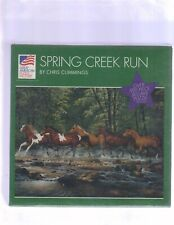 BRAND NEW *SPRING CREEK RUN* JIGSAW PUZZLE 550 PIECES HORSES SEALED