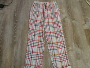 Psycho Bunny PJ Pants Mens Small Cotton Pajama Lounge Nightwear red white gray