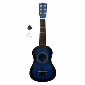 """New 21""""Acoustic Wood Guitar for Kids Starter Beginner Student Blue"""
