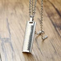 Collana con pendente preghiera uomini Collana in acciaio inossidabile Oratio