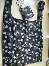 Disney Mickey Mouse Black and White Face Foldable Folding Shopper Shopping Bag