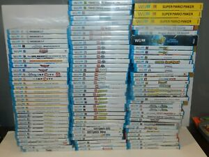 Nintendo Wii U Games Complete Fun You Pick & Choose Video Games Lot Update 1/16