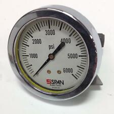 SISPAN 0-6000PSI PRESSURE GAUGE 02-0221-B