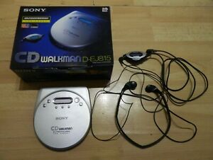 Sony CD Walkman D-EJ815 Portable Compact Disk Player Jog Proof - Working