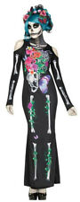 Fun World Women's Beautiful Bones Sexy Floral Skeleton Costume Dress S/M 2-8
