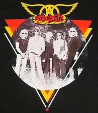 AEROSMITH T-shirt Triangle Circle Photo Vintage Hard Rock Tee Adult MEDIUM New