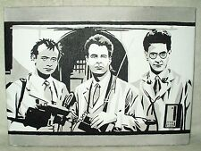 Canvas Painting Movie Ghostbusters Trio Team Art 16x12 inch Acrylic
