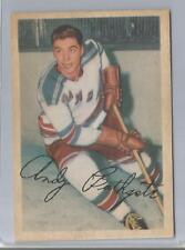 1953-54 Parkhurst Hockey Andy Bathgate Card # 56 Excellent Condition