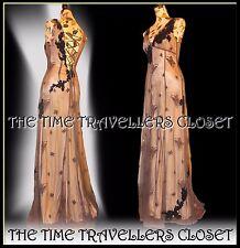 KATE MOSS TOPSHOP LAVENDER BUTTERFLY CORSET MAXI DRESS VINTAGE 20s 30s 40s UK10
