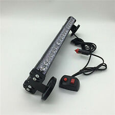 36 LED Emergency Warning Car Auto Boat Grill Bar Police Strobe Light Blue Red @#