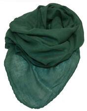Halstuch Tuch Cotton Baumwolle uni einfarbig DUNKEL GRÜN ca 95 x 95 cm