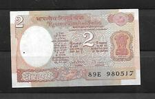INDIA #79h 1985 CRISP MINT OLD 2 RUPEE CURRENCY BANKNOTE BILL NOTE PAPER MONEY