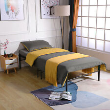 Metal Bed Frame Trundle Single Bed Guest Bed Sofa Bed Sustainable Black/White