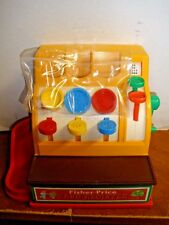 FISHER PRICE CASH REGISTER - VINTAGE 1974 #926 W/ COINS LOOKS & WORKS GREAT