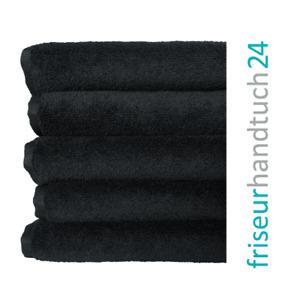 Friseur Handtücher SCHWARZ 95° Farbecht Fleckenresistent Mikrofaser 90 x 50 cm