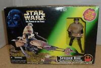 Star Wars Power Of The Force - Luke Skywalker & Speeder Bike New Sealed - Kenner