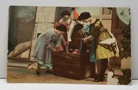 Stage Life - Women With Girl in Crate 1908 Postcard F20