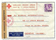 NED INDIE DUTCH INDIES 1940-12-7  RED CROSS-CENSOR PM-TANDJONG FROM=BILLITON=