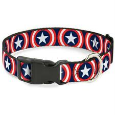 Buckle-Down Captain America Shield Navy Pet Collar - Large