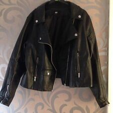 H&M Leather Cropped Coats & Jackets for Women