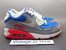 Nike Air Max '90 Military Blue White Laser Crimson Gs Running Shoes 2014 sz 7Y