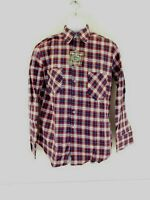 The Highlander Flannel by BUD BERMA Hunting Outdoor Mens Cotton Shirt Size M