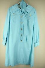 Vintage Norman Wiatt Mujer Paled Turquesa 18.3ms VESTIDO Grande