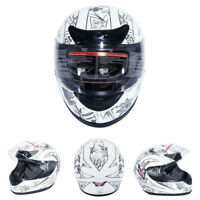 TCMT DOT Adult Motorcycle Butterfly Flip Up Full Face Street Dirt Bike Helmet US