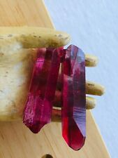Lot of Red Ruby BERYL BIXBITE POINTS 36gms Vibrant Color Crystal Quartz Healing