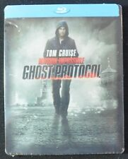 Mission Impossible Ghost Protocol (Blu-Ray, 2011, STEEL CASE) TOM CRUISE  NEW