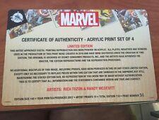 Disney D23 Expo 2017 Exclusive Thor Spider Man Marvel Acrylic Print Set LE 100