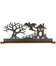Halloween Silhouette Ghost Classic Motifs 12� Haunted House Craft Holder Hanger
