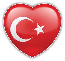 I Love Turkey Glossy Heart Flag Car Bumper Sticker Decal Sizes