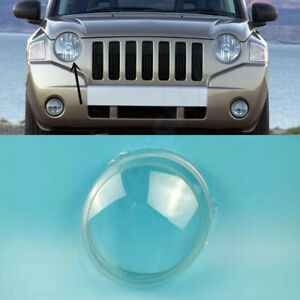 For Jeep Compass 2007~2010 Right Side Headlamp Clear Lens Cover+Sealant Glue