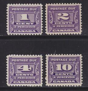 CANADA 1933-4 MINT H SC #J12-4 POSTAGE DUES CAT $72.50