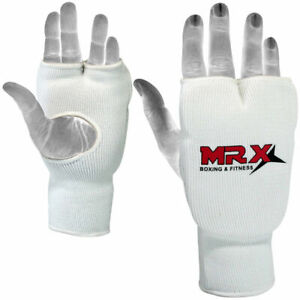 Karate Mitts Elasticated Padded Martial Arts Boxing Training Gloves MMA