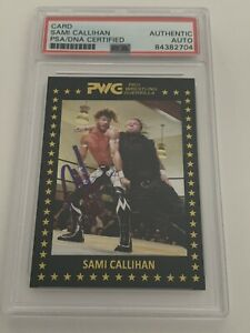 Sami Callihan 2017 PWG BOLA RC #21 Signed PSA/DNA Autograph TNA Impact Wrestling
