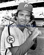 Tim McCarver 1970-72, 1975-80 Philadelphia Phillies 1976  B+W  8x10 C